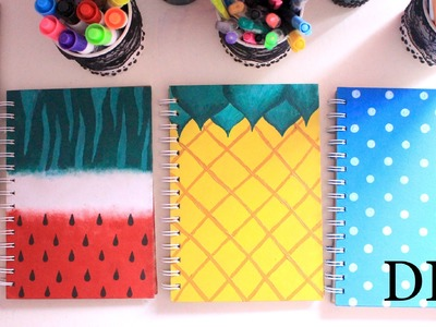 DIY: Cute and colourful notebooks (Watermelon, Pineapple and Polka dot print)
