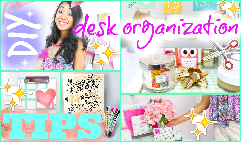 DIY Desk Organization & How I Style   #DIYITGIRL