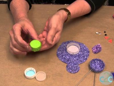 DIY Favorite Craft Project in 2012 Bottle Cap Birdie!