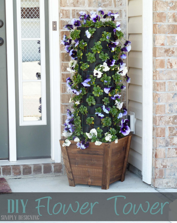 DIY Flower Tower #digin #heartoutdoors #sponsored