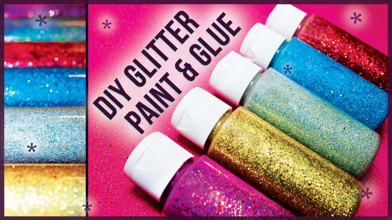 DIY Glitter Glue Paint. How to Make! Easy + Cheap