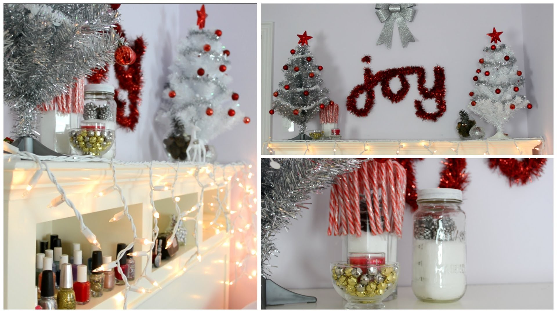 Diy holiday room decorations easy cheap for Cheap xmas decorations