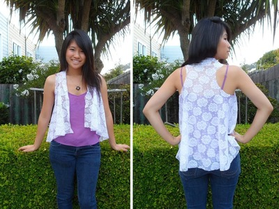 DIY: How to Make a Lace Cardigan (Easy & Simple)