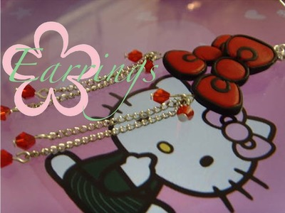 DIY: MeiIris' Hello Kitty Bow Earrings Tutorial