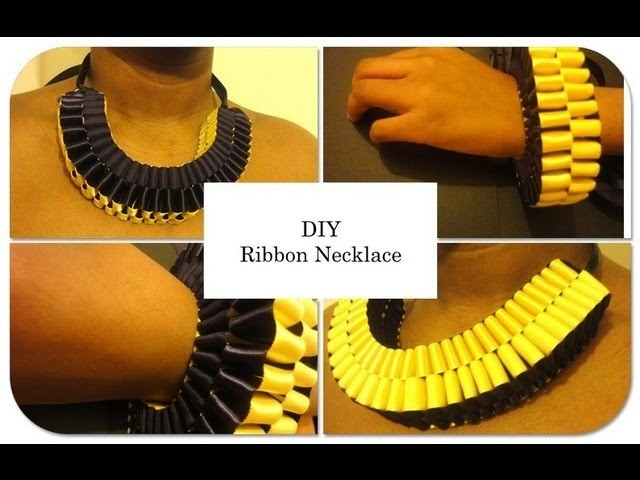 DIY Ribbon Necklace. How To Make A Ribbon Necklace
