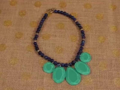 DIY Statement Necklace with Mod Podge Facet Shapes and Nail Polish