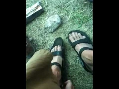 DIY Tire Sandals (using only a knife!)