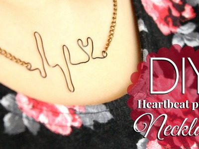 DIY: Wire Heartbeat Pulse Necklace ❤ {SUPER EASY}