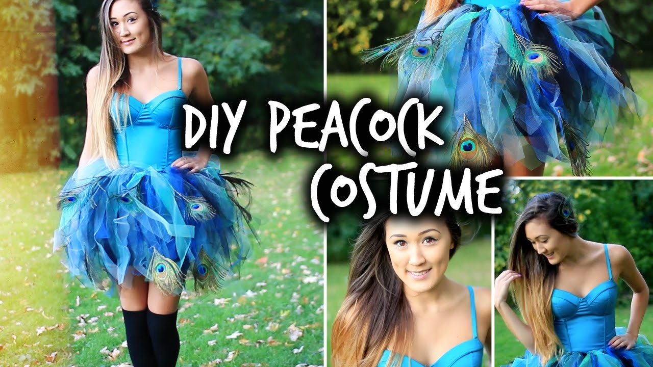 Easy DIY Peacock Halloween Costume | LaurDIY