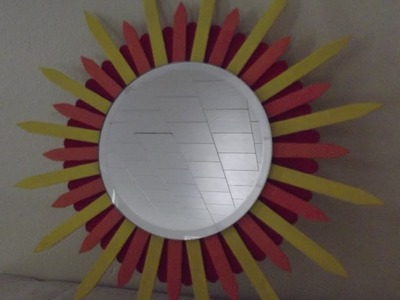Fun DIY popsicle stick mirror for under 5 dollars