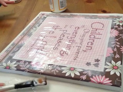 Getting Crafty, Scrapbooking on Canvas, Sounds for ASMR