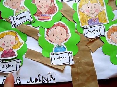 Grade 1 -Social studies - Family tree craft
