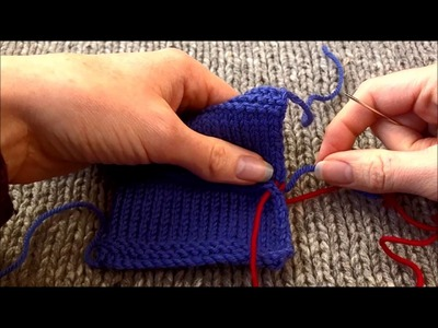 Grafting two pieces of knitting together