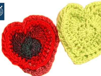 How to Crochet a Heart -  Left Hand Crochet Geek