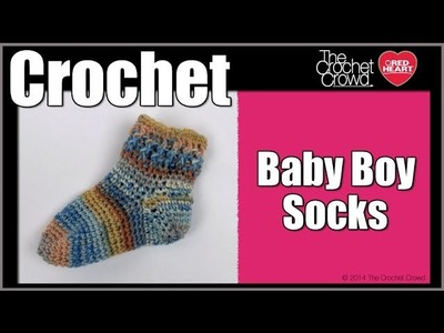 How to Crochet Baby Boy Socks