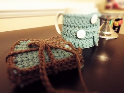 ♡ How To: Crochet Coasters & Coffee Mug Cozy