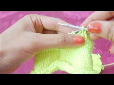 How To Knit-Basics Of Knitting.Simple Loom Knitting Basic.How To Make Loom Scarf