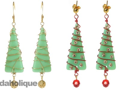 How to Make a Christmas Tree by Wire Wrapping Sea Glass