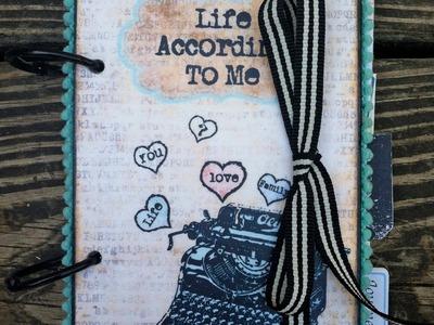 Life According to Me Printable Scrapbook Mini Album by Marion Smith