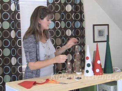 Make Kid-Friendly Christmas Decorations - Tabletop Trees for Tables, Mantles & Centerpieces