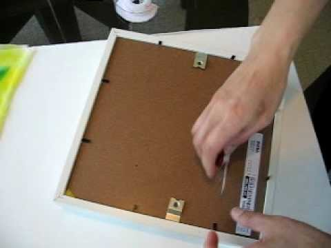 Mounting silk onto frame  DIY