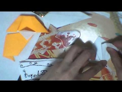Origami ep 1 : how to make a simple origami dog  gift tag