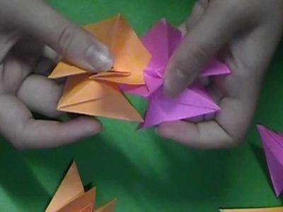 Origami Spikey Kusudama Tutorial (6 units)