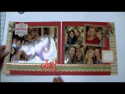 Power Scrapbooking Layouts Video 5: Interactive Christmas 12x24 Pages (& Organizing Paper)