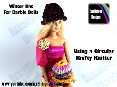 Rainbow Loom - 3D Barbie Hat Charm using the circular Knifty Knitter