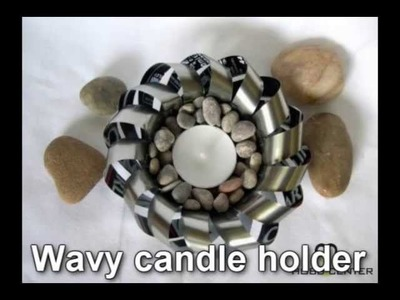 Recycled craft ideas: Wavy candle holder