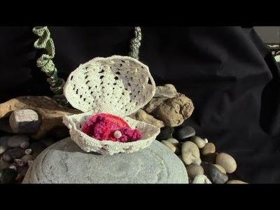 Sea Shell in Irish Crochet Lace