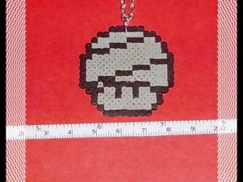 Spring mushroom necklace