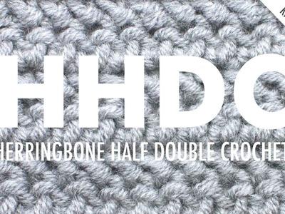 The Herringbone Half Double Crochet :: Crochet Abbreviation :: Right Handed