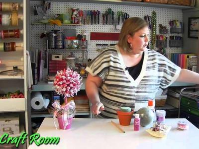 Valentine's Day Topiary - AJ's Craft Room (Kid Friendly Craft)