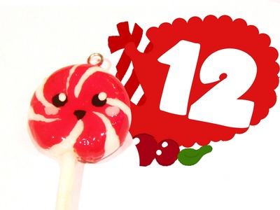 ❤ Christmas Lollipop! Kawaii Christmas 12 -Polymer Clay tutorial