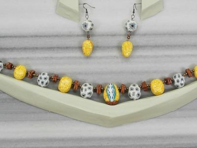 Flower Necklace - Polymer clay Jewelry