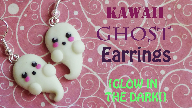 Glow-In-The-Dark Kawaii Ghost Earrings! - Polymer Clay Tutorial {Halloween #3}