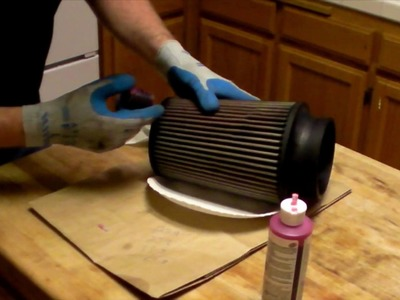 How to clean and oil a K&N. S&B air filter.