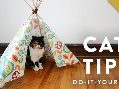 How to Make a Cat Tipi