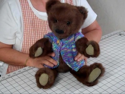 How to Make a Jointed Fur Teddy Bear - Part 14 Final Steps