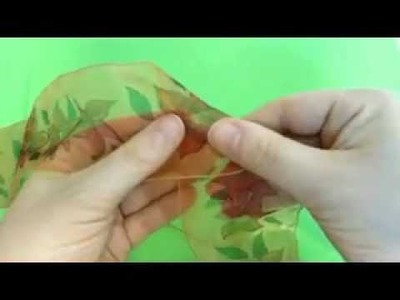 How To Make Organza Flowers Tutorial