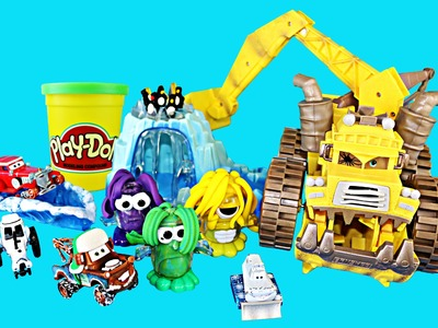 Play Doh Crystal Cave Doh Doh Penguin, Walrus, Monsters, Ice Cave Reviewed by Disney Cars Toy Mater