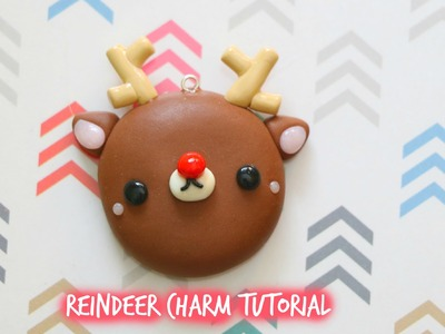 Polymer Clay Reindeer Mirror Charm Tutorial