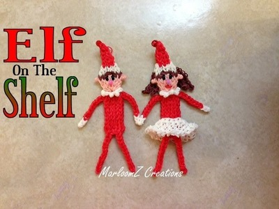 Rainbow Loom ELF on The Shelf Tutorial. How to with Bands