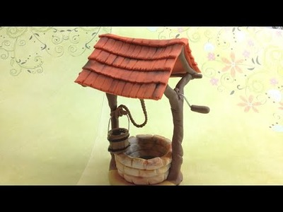Rustic Well. Polymer clay (Fimo soft)