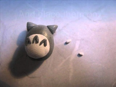 Totoro polymer clay charm tutorial