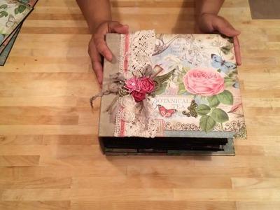 Botanical Tea Mini Album Final Review - SOLD