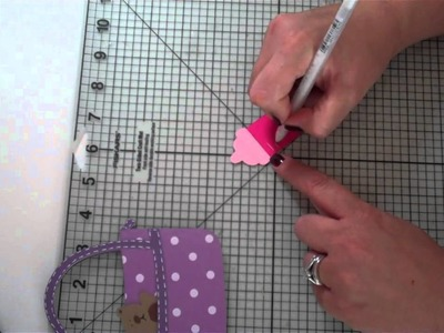 Diaper Bag Shape Card using Gypsy, Cricut and Doodlecharms cartridge