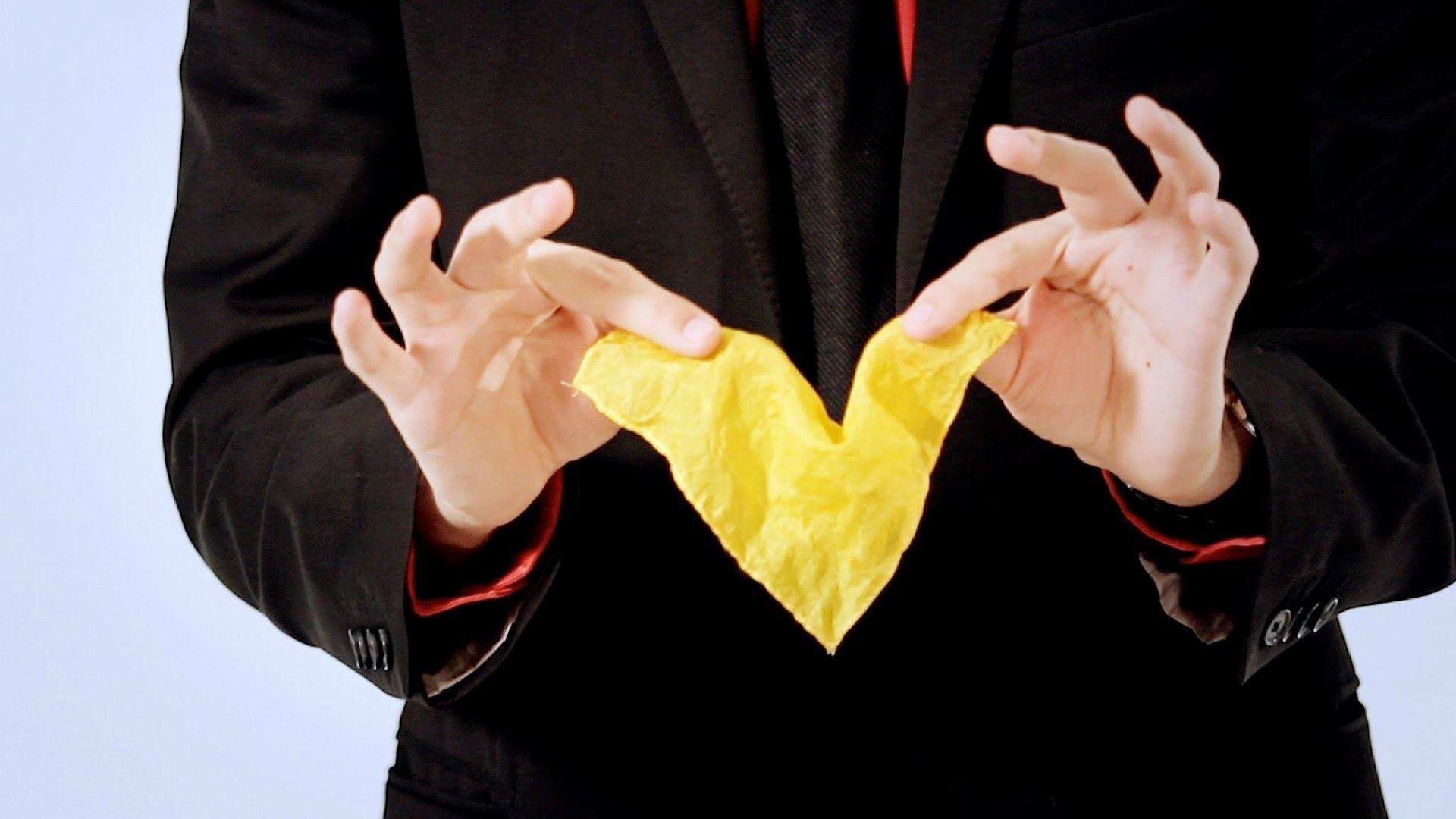 Disappearing Handkerchief Trick | Magic Card Flourishes