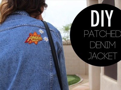 DIY Patched Denim Jacket
